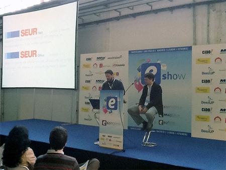 Marc Bayo durante su ponencia en el eShow de Barcelona