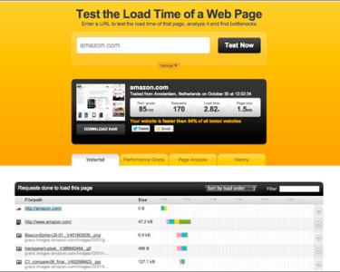 Pingdom Tools / para calcular el tiempo de carga de una página web
