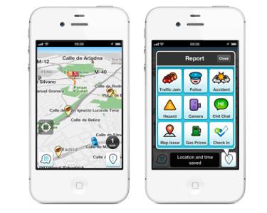 Waze, en su versión para iOS