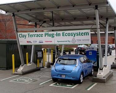 Estación de recarga ecológica para vehículos eléctficos