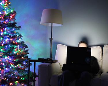 Comprando online en Navidad
