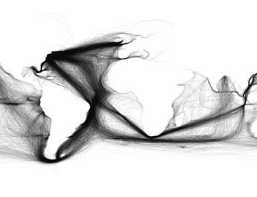 Mapa del mundo / Rutas - 1