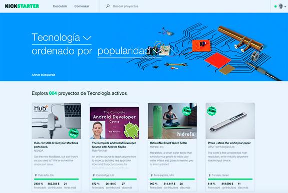 Kickstarter en España