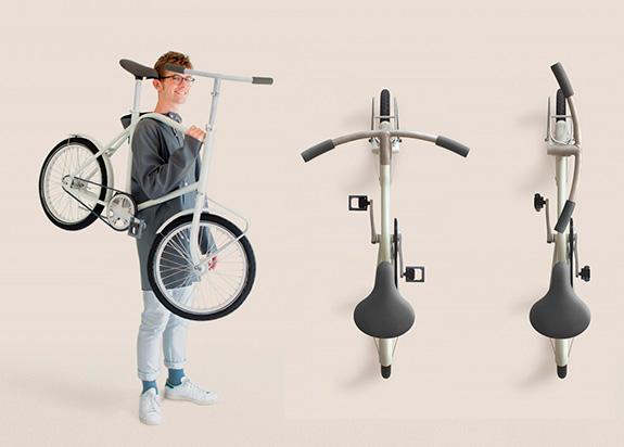 Una bicicleta cómoda de transportar