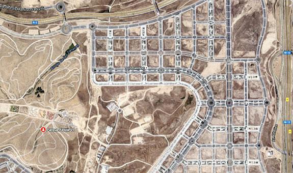 Mapa de Madrid desde el aire / Google Maps