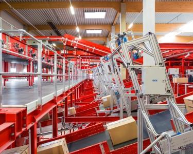 Interior de un centro logístico del grupo DPD