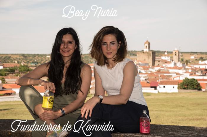 Nuria y Bea, fundadoras de Komvida