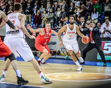 España versus Bielorrusia, en febrero de 2018