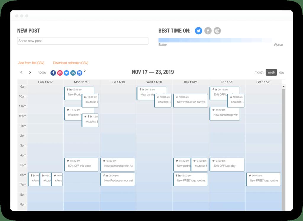 metricool calendar